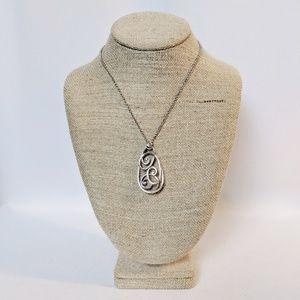 Brighton Rock & Roll Scroll Necklace NWT